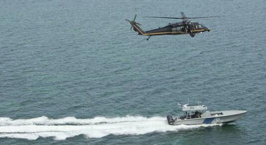 CBP Air and Marine Operations from the air and sea.
