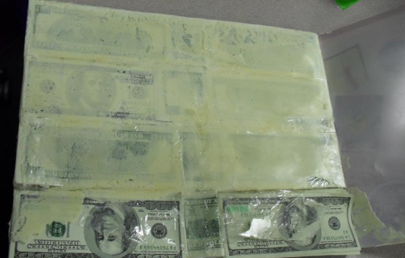 Counterfeit currency seized in Miami.