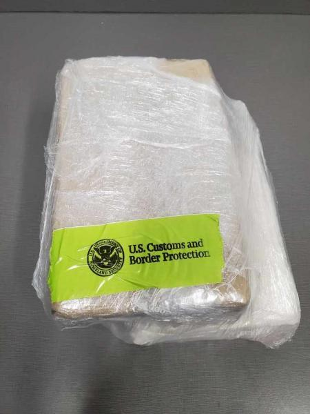 CBP officers seized over eight pounds of cocaine.