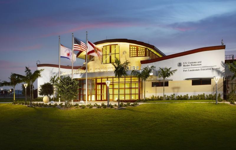Illustration of new CBP facility at Fort Lauderdale Executive Airport