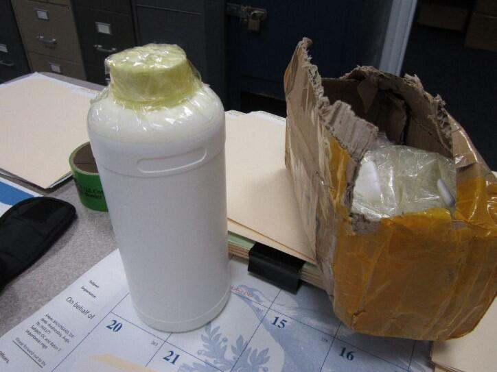 CBP officers seized a package of gamma-butyrolactone (GBL) in Jacksonville.