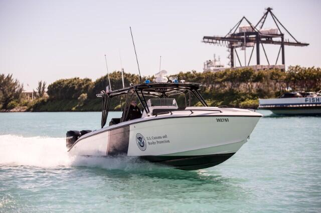 Marine interdiction agents during a recent patrol in Miami.