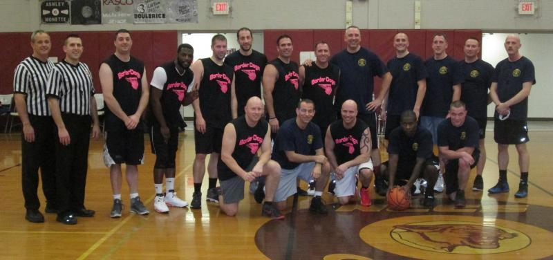 CBP Champlain and New York State Police Troop B play basketball for charity