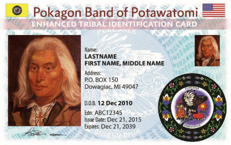Pokagon Band Enhanced Tribal Card