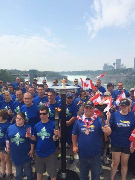 Patricipants From 2015 Badges On The Border Torch Run