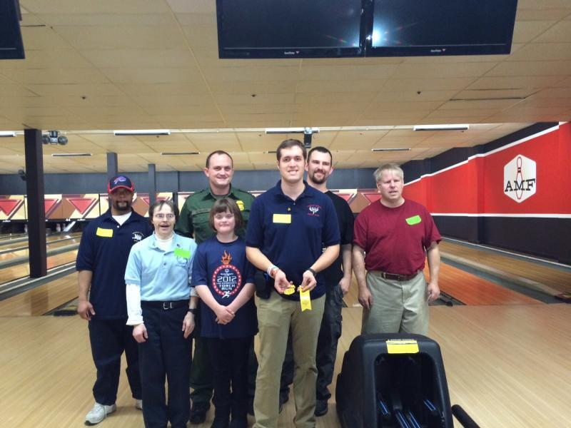 U.S. Border Patrol agents from Buffalo supported Special Olympics bowling event