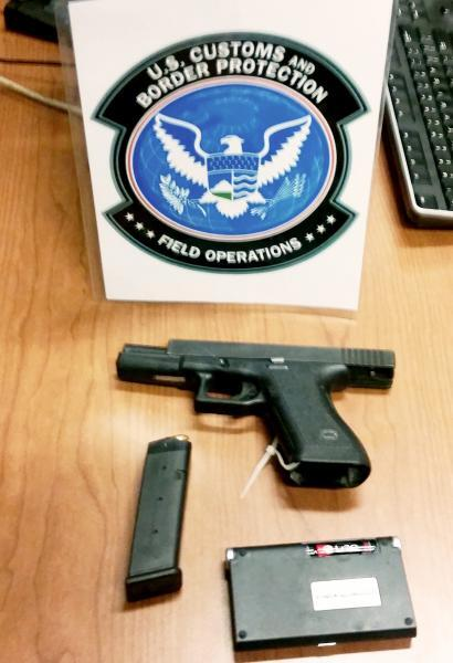 Stolen handgun seized by CBP from traveler at Peace Bridge