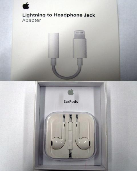 Counterfeit Apple ear pods and adapters
