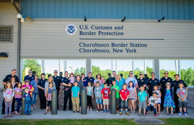 CBP children at Churubusco Port of Entry