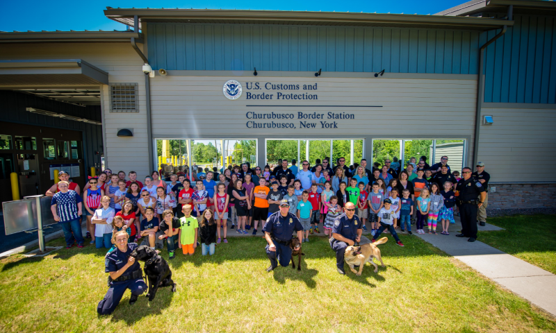 CBP and fifth grade students from Northern Adirondack Central School District