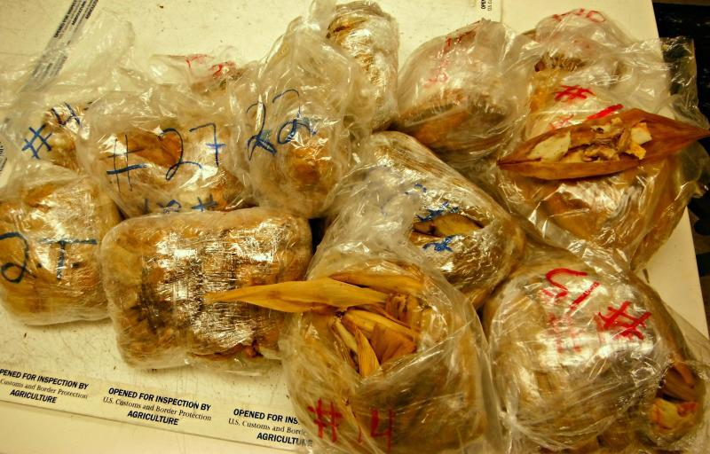 CBP officers seized 450 pork meat tamales at LAX