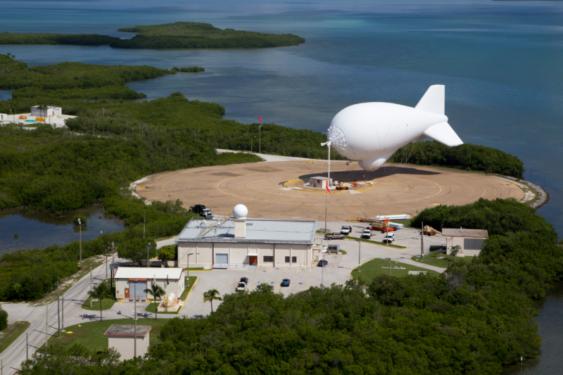 U.S. Customs and Border Protection, Office of Air and Marine tethered aerostat radar system (TARS) operations in Florida.