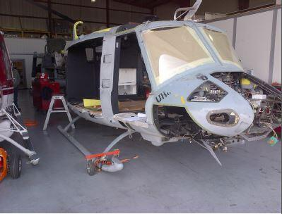 Before image of UH-1N twin-engine helicopter