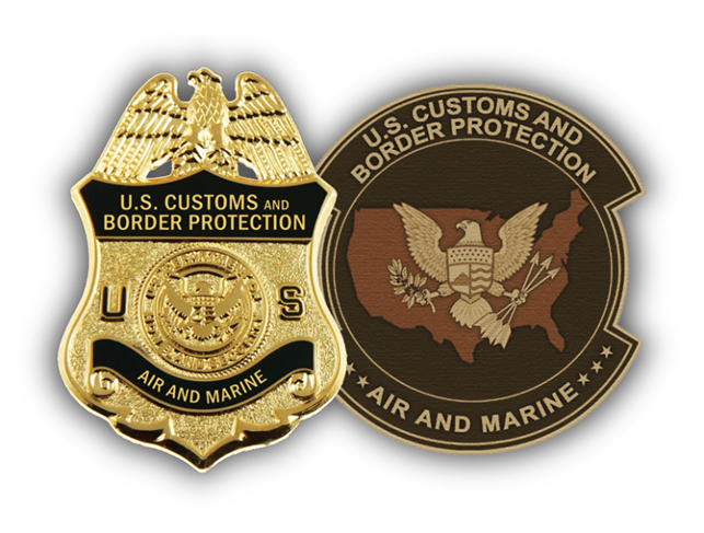 CBP Air and Marine badge and patch