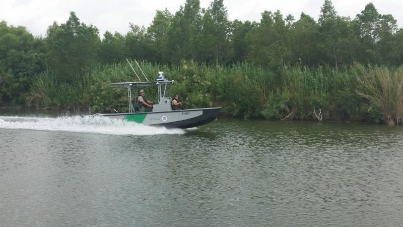 Twenty-one foot Riverine Shallow Draft Vessel