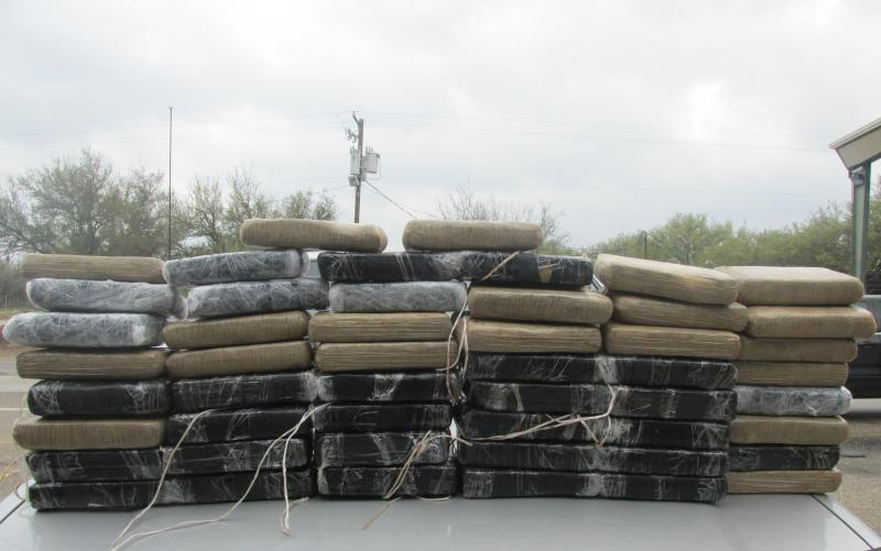 Cocaine seized by Border Patrol agents at the Falfurrias checkpoint