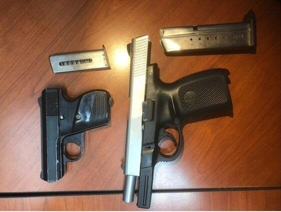 Weapons seized by Kingsville agents at the Sarita checkpoint