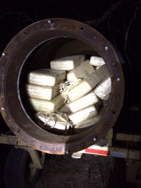 Marijuana stored inside metal tanker