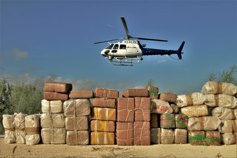 Air and Marine Operations and Border Patrol seize over 1,000 pounds of marijuana