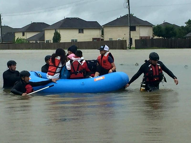 BORSTAR Operators conduct rescue operations during Hurricane Harvey