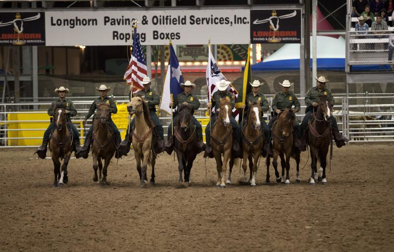Members fo the RGV Horse Patrol unit participate in opening ceremonies