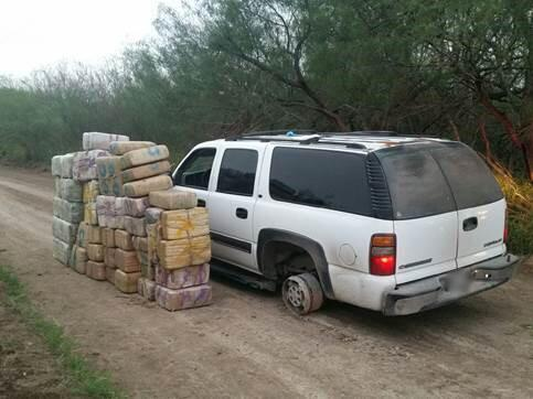 Over 1,200 pounds of marijuana and vehicle seized near McAllen, Texas