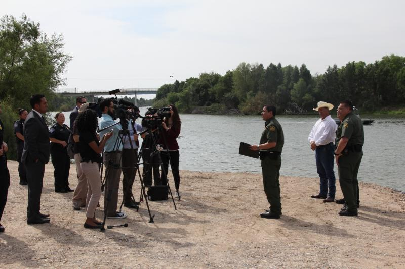 Press Event for new boat ramp