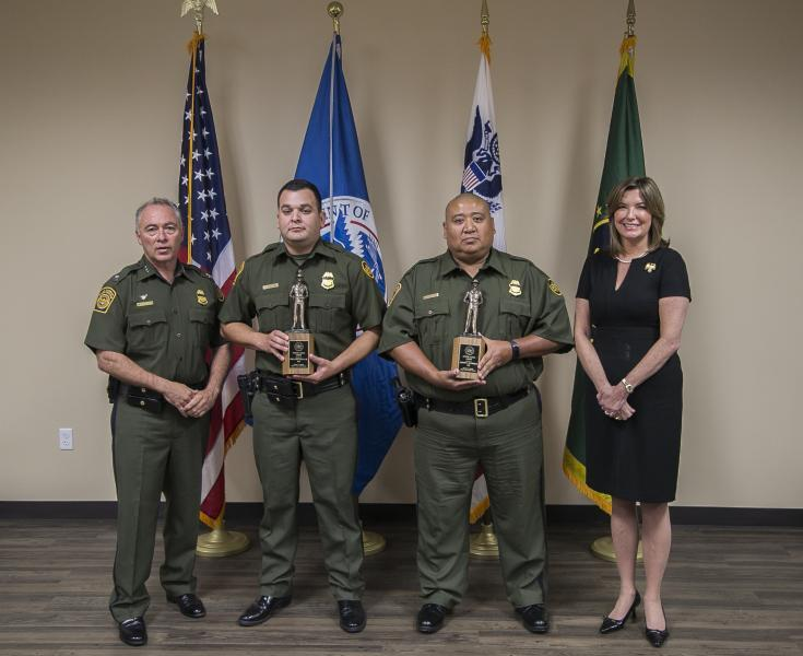 Rio Grande Valley Sector agents received the Newton-Azrak award for heroism.