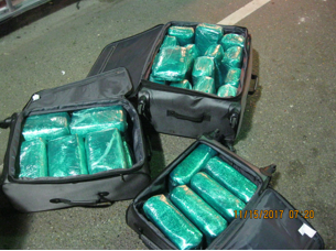 Cocaine seized by Brownsville Agents