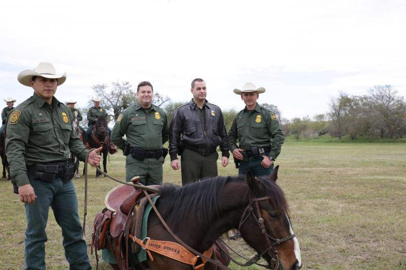 Chief of the Border Patrol Michael Fischer and Chief Patrol Agent Kevin Oaks host the CODEL