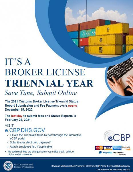2021 Broker License Triennial Year Flier Image