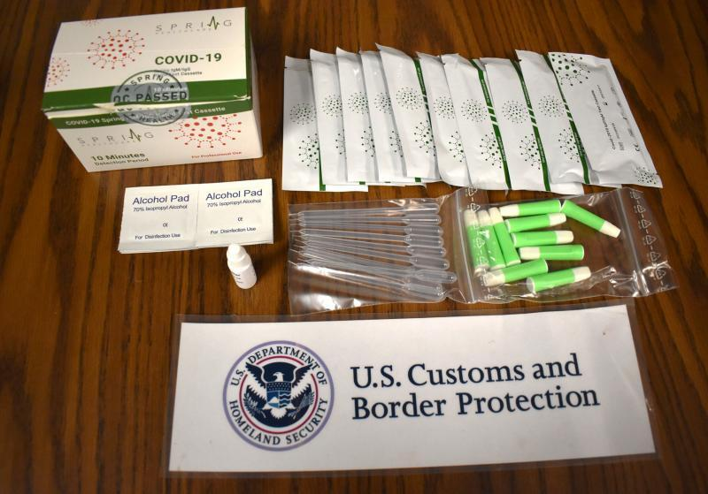 Unapproved COVID-19 test kits seized by CBP Officers in the Baltimore Field Office in fall 2020.