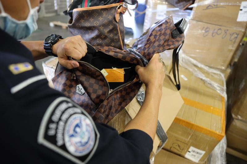 In November 2020, CBP Officers in Dallas intercepted a shipment of counterfeit footwear, handbags, and textiles worth over $9.3 million dollars.