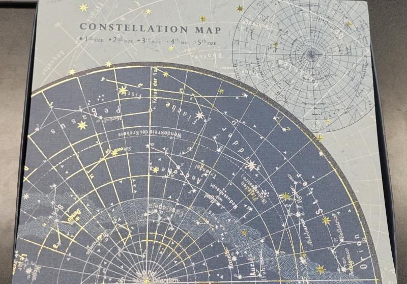 Box for map of constellations.
