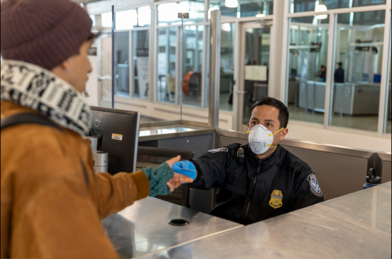 CBP Officer with PPE