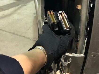 Seized magazines and ammunition