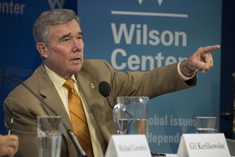 "CBP Commissioner R. Gil Kerlikowske declared that the U.S. and Mexico have made ""great strides in strengthening our partnerships"" to improve border management during remarks at a forum hosted by the Woodrow Wilson Center for International Scholars on June 15."